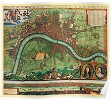 London Map 1600s Poster