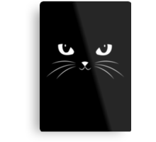Cute Black Cat Metal Print