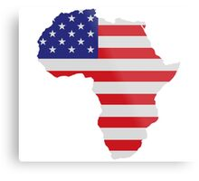 African American Africa United States Flag Metal Print