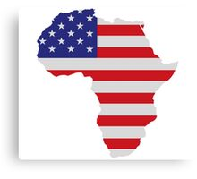 African American Africa United States Flag Canvas Print