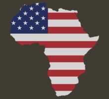 African American Africa United States Flag by TheShirtYurt