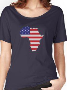 African American Africa United States Flag Women's Relaxed Fit T-Shirt