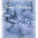 christmas in blue sparkling snow   by francelle  huffman