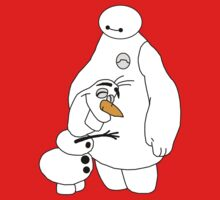 Baymax and Olaf by TheEnterTayner