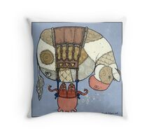 Cow balloon Throw Pillow