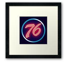 76 Neon Framed Print