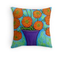 Radiant Ranunculus Throw Pillow