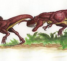 Baby Tyrannosaurs by Voluspa
