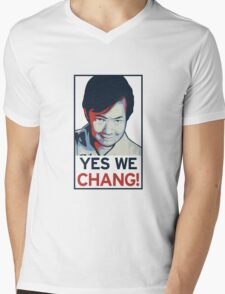 Yes We Chang! Mens V-Neck T-Shirt