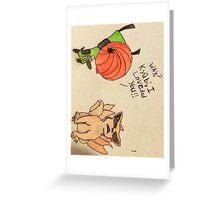Kyūbi and Gir Greeting Card