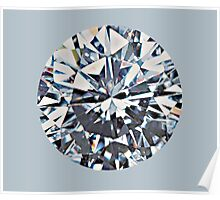 Diamond (on silver) Poster