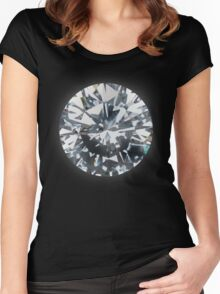 Diamond (on silver) Women's Fitted Scoop T-Shirt