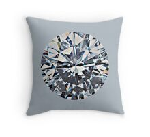 Diamond (on silver) Throw Pillow