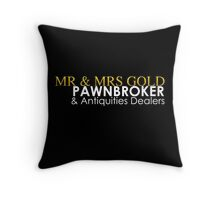 Mr. and Mrs. Gold: Pawnbroker and Antiques Dealers Throw Pillow