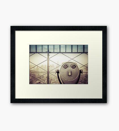 Travel Sunset Landscape - New York City - ESB/WTC Framed Print