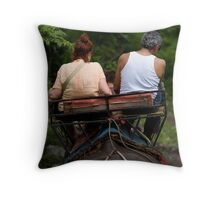 Lets go for a ride Throw Pillow