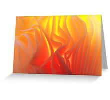 Folds of fire Greeting Card