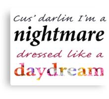 "Taylor Swift ""Blank Space"" Lyrics Graphic  Canvas Print"