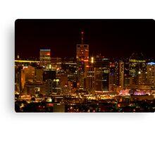 Brisbane City Lights Canvas Print