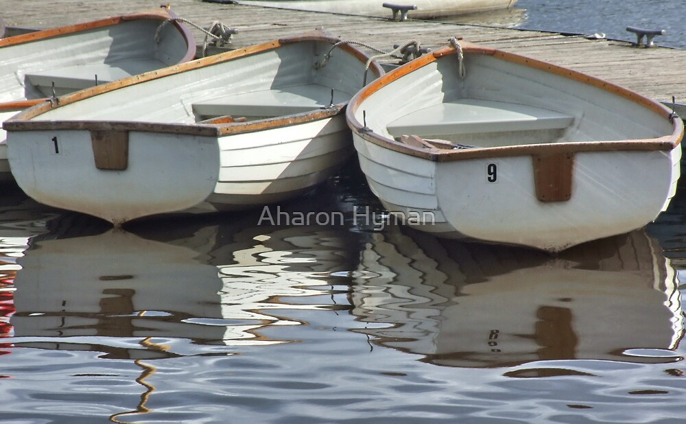 Boat Reflection's by Aharon Hyman