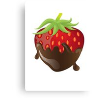 Chocolate Covered Strawberry  Canvas Print