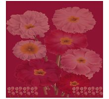 Vintage Floral Magenta and Pink Colors Home Decor by Melissa Park