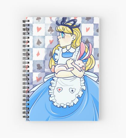 Alice and her Rabbit  Spiral Notebook