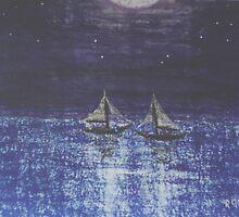 Moonlit Crossing by Robert Gemme