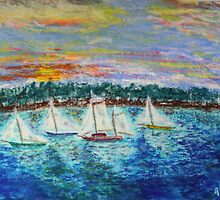 Sunrise Regatta by Robert Gemme
