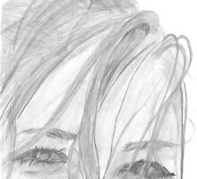 Pencil sketch eyes by waliasudhir