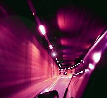 Racing down a tunnel in a car... by Shanz