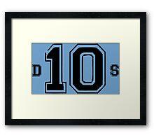 D10S.  Framed Print