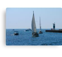 Channel to Lake Michigan Canvas Print
