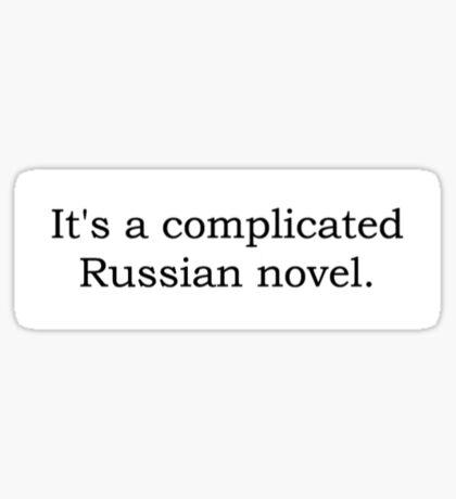 A Complicated Russian Novel. Sticker