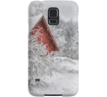 Red Shed In The Snow Samsung Galaxy Case/Skin