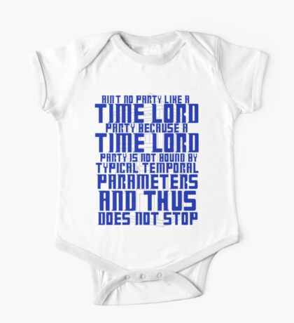 Aint No Party Like a Time Lord Party One Piece - Short Sleeve