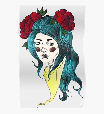 Melancholy-White Poster