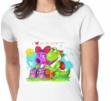 Birdo and Yoshi Womens Fitted T-Shirt