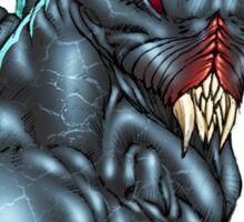 Red Eyed Evil Alien Sci-Fi Monster by Al Rio Sticker