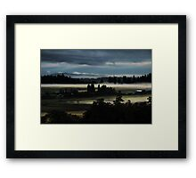Stillness in the Valley Framed Print