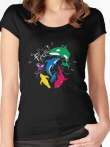 "The Animals of ""Free!"" Women's Fitted Scoop T-Shirt"
