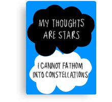 My Thoughts are Stars Canvas Print
