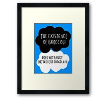The Existence of Broccoli Framed Print