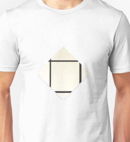Composition in Black and White (Painting 1) Piet Mondrian,  Unisex T-Shirt
