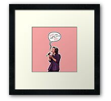 Harry, look what you've done to me - salmon pink Framed Print