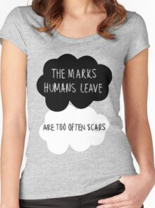 The Marks Humans Leave Women's Fitted Scoop T-Shirt