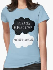 The Marks Humans Leave Womens Fitted T-Shirt