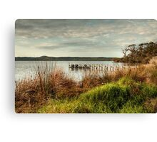 Jetty at the Inlet Canvas Print