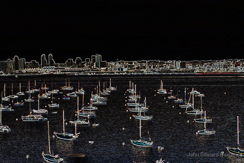 San Deigo in Neon by John Edward Barrera
