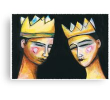 King & Queen of hearts Canvas Print
